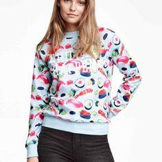 Funny sushi pullover sweatshirt for women shiitake happens sweatshirts winter