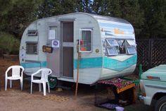 1958 Mercury Canned ham camper vintage travel trailer