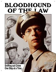 Andy Griffith Show Tin Metal Sign  Barney Fife Bloodhound ** This is an Amazon Affiliate link. Want to know more, click on the image.
