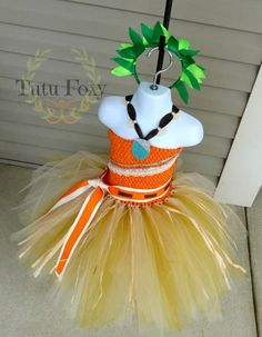 Moana Inspired Tutu Dress Moana Inspired Costume Moana by TutuFoxy