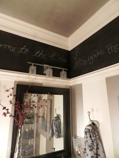A Stylish Interior: Powder Room with Chalkboard Paint
