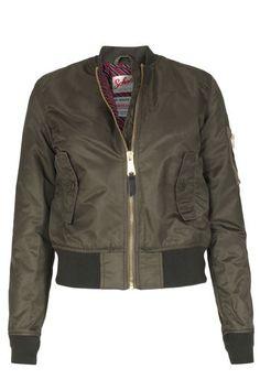 Schott NYC Bomberjacke Jkt Acw Army Khaki bei myClassico - Premium Fashion…