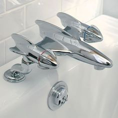Errr...spaceship bath taps? Exactly HOW have we lived without these?! :O #autism #aspergers
