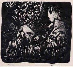 Hunziker,Max : In des WALDES RUHSEELIGKEIT - - Handsignierte Handätzung des SCHWEIZER Surrealisten 1963
