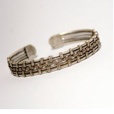 Silver cuff bracelet mens braceletcuff bracelet by BeyhanAkman, $39.00