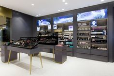 Beauty Bar Store black paint display counter