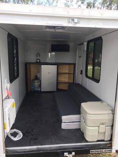 Teardrop Trailer Interior, Enclosed Trailer Camper, Cargo Trailer Camper Conversion, Off Road Camper Trailer, Small Trailer, Camper Trailers, Tiny Trailers, Overland Trailer, Cargo Trailers