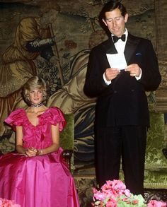 May Prince Charles & Princess Diana at the opening of the Renaissance Exhibition at Sutton Place in Guildford, Surrey.
