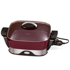 "Amazon.com: Presto 06857 16-inch Electric Foldaway Skillet, Burgundy: Home & Kitchen. Considering purchasing either this or the 16-inch. The 16"" is approximately 20x16, while the 12"" is approximately 16x12.5. At present, the 16"" comes only comes in burgundy on Amazon.com. Your feedback will be much appreciated, fellow pinners. Yes, I mean you!"