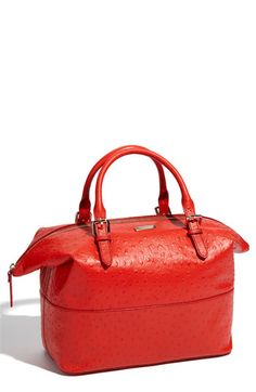 GASP Ostrich leather in deep coral... OMG