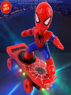 Spiderman/Iron man Scooter Electric Car Stunt Music led Light Toys - Buy Online Off - Wizzgoo Store Marvel Funny, Marvel Avengers, Marvel Movies, Baby Toys, Kids Toys, Children's Toys, Wwe Toys, Toddler Toys, Shopping