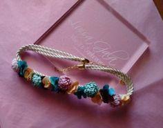 Cinturon de cordon y flores de tela Luisa Gala