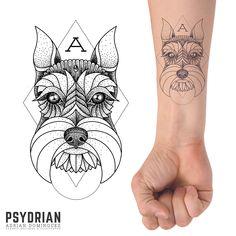 Custom Schnauzer tattoo design