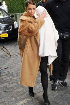 Kim Kardashian With Baby North West Out And About In New York, 2013