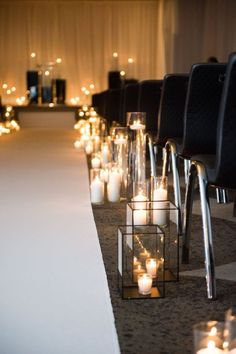 Indoor Wedding Ceremony Arches and Aisle Ideas simple chic candles wedding aisle decoraiton ideas Indoor Wedding Ceremonies, Wedding Ceremony Arch, Indoor Ceremony, Church Wedding, Wedding Aisle Candles, Wedding Aisle Decorations, Wedding Arrangements, Wedding Isles, Black Candles