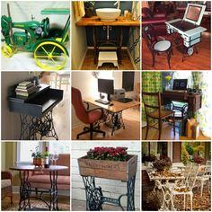 30+ DIY Ideas to recycle your old sewing machines