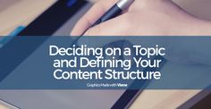 Thinking of creating an infographic? Here's your first step! How to decide on a topic for an infographic and how you to define the content structure.