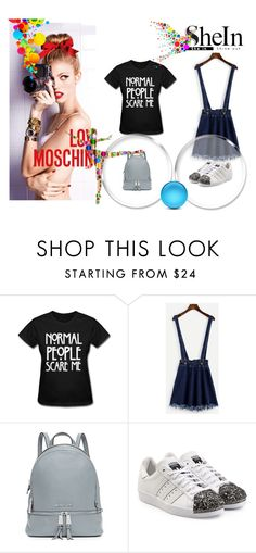 """""""Shein contest"""" by kasandra123-1 ❤ liked on Polyvore featuring MICHAEL Michael Kors and adidas Originals"""