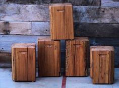We recently sold out of these #reclaimed beam #stools so knocked out a few more…