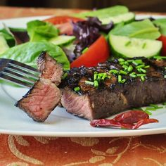 I love summer grilling season when you can come home from work and within a half hour be sitting down to a quick-grilled dinner like this delicious striploin steak, marinated in a simple mix of Asian flavors. The beef can take the marinade for up to 24 hours, so with 5 minutes of advance preparation, …