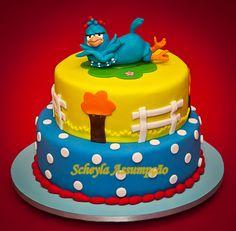 bolo galinha pintadinha colorido