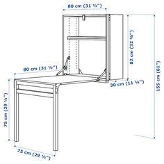 IVAR Storage unit with foldable table - pine - IKEA IVAR Storage unit with foldable table - pine - I Space Saving Furniture, Diy Furniture, Space Saving Desk, Space Saving Storage, Space Saver, Furniture Storage, Kitchen Furniture, Diy Storage, Storage Spaces