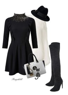 """""""Black & White  Outfit"""" by ragnh-mjos ❤ liked on Polyvore featuring Miss Selfridge, Gucci, Amrita Singh and Amanda Rose Collection"""