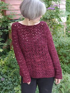 Sangria Sweater Free Knitting Pattern  From our friends at Berroco, Sangria…