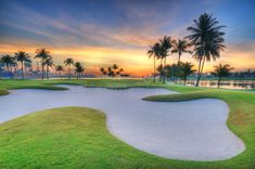 Photo about Sunrise overlooking the sea with golf course in the foreground with coconut trees surrounding it. Image of blue, golf, sunrise - 4865012 Architect Career, Ecology Design, Personalized Tags, Hawaii, Golf Bags, Golf Courses, Stock Photos, Sunrise Sunrise, Portfolio Website