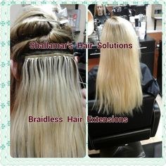 Braid-less hair extensions installed