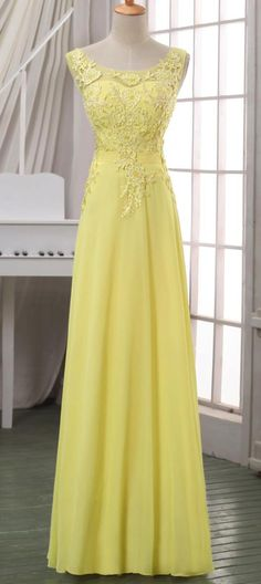 2014 New arrival yellow lace evening dress,lace appliqued V back evening dress/prom dress,yellow maxi dress,yellow lace pageant dress. Navy Evening Dresses, Yellow Lace Dresses, Yellow Maxi Dress, Pretty Dresses, Beautiful Dresses, Dress Lace, Bridesmaid Dresses, Prom Dresses, Formal Dresses