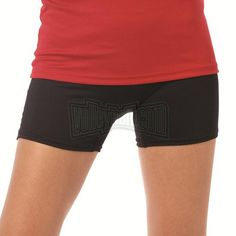 "Black Badger Ladies B-Fit 4"" Volleyball Spandex Shorts"