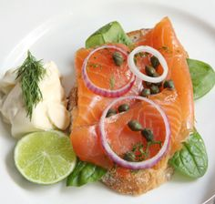 Dill Lime Salmon  Salmon poached in sparkling water