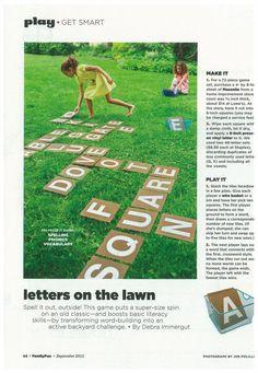 Letters on the Lawn - thanks Parents.com!