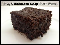 Recipe: Chewy Chocolate Chip Einkorn Brownies | Healthy Roots, Happy Soul