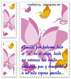 bellas palabras de amor con imàgenes para dedicar a tu querida esposa, descargar maravillosas dedicatorias de amor para una esposa : http://www.datosgratis.net/bonitos-mensajes-de-amor-para-mi-esposa/