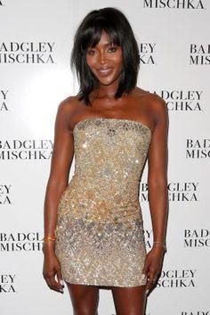 Naomi Campbell backstage at the Badgley Mischka fashion show