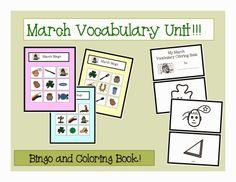 March Vocabulary Unit!