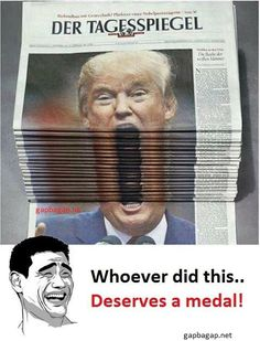Funny Meme About Donald Trump vs. News Papers