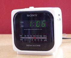 Vintage 1980s Sony Dream Machine Cube Alarm by retrowarehouse