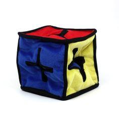 Kyjen I-Qube Puzzle Plush Interactive Dog Toy, Large