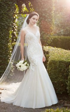 The top half is basically perfect. Wish this was a ballgown 852 Heavily Beaded Mermaid Wedding Dress by Martina Liana