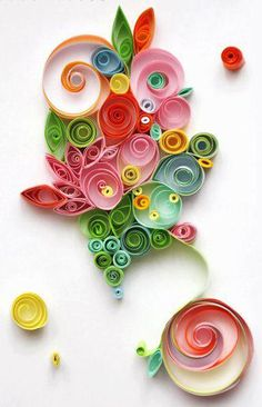 Swirly Paper design. Party perfect. Um. Wow. Looks pretty wildly amazing, and not that hard to do!