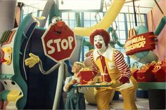 "Here's another Happy Meal Workshop second commercial. This one is called ""Assistant Amy. Stop Sign Puppet. Puppeteers Tony Urbano and Tim Blaney. with Katie Volding. Mcdonalds, Puppets, Childhood Memories, Ronald Mcdonald, Nostalgia, Commercial, Workshop, Meal, Shrinky Dinks"