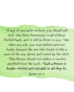 Wisdom from James; #bible #scripture