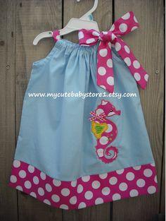 Seahorse Pillowcase Dress. $26.00, via Etsy. Sooo cute!
