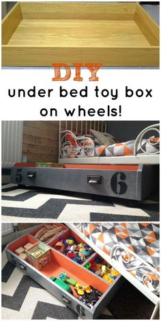 Ikea+Drawer+To+Under+Bed+Toy+Box. Tutorial: http://www.hometalk.com/13473871/ikea-drawer-to-under-bed-toy-box?se=fol_new-20160206-1&utm_medium=email&utm_source=fol_new&date=20160206&slg=712ef8efcc9142fe2402f196bf77df85-1110481