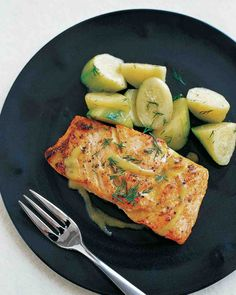 Mustard-Glazed Salmon. Follow @MS_Living on Pinterest for more exclusive recipes and inspiration from the editors of Martha Stewart Living.