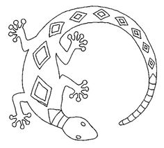 Aboriginal Kangaroo coloring page from Aboriginal Art