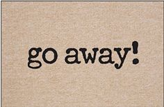 High Cotton Go Away Doormat *** Click on the image for additional details. (This is an affiliate link) #HomeDecorDoormats